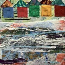 """Beach Huts"" by Jean Boath"