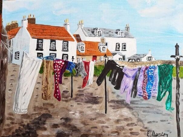 """Cellardyke Washing Day"" by Liz Barclay"