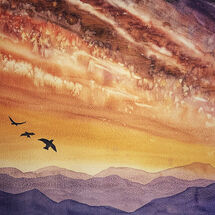 """Sunset over the Pentlands"" by Marjorie Rae"