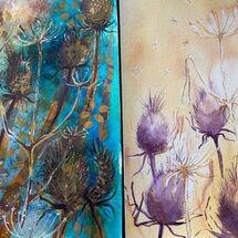 """Teasels"" by Maggie Brown"
