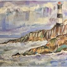 """Race Rocks Lighthouse"" by Marjorie Rae"