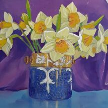 """Daffs in an Old Pot"" by Margaret Cummins"