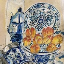 """Delft & Tulips""by Maggie Brown"