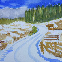 """Knockhill Wood in snow"" by Liz Bibby"