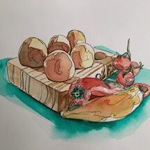 """""""Eggs & Peppers"""" by Moira MacPherson"""