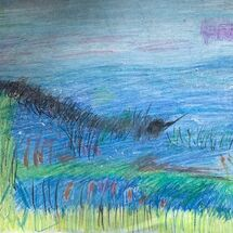 """""""Seascape and Long Grass"""" by Hazel Campbell"""