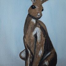 """Sitting Hare"" (from a Bronze statue) by Judith Jaggard"