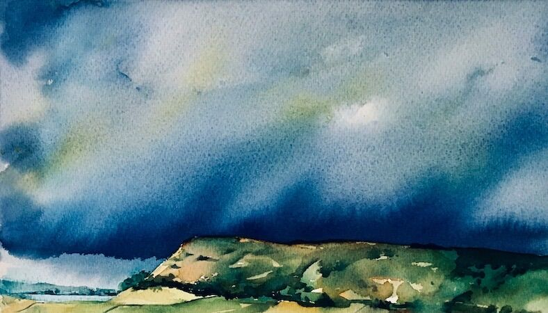 """Stormy sky over Benarty"" by Moira MacPherson"
