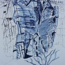 """Cliffs along coastal path"" by Liz Bibby"