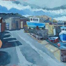 """""""Pettycur Bay Harbour"""" by Margaret Cummins"""