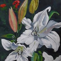 """""""Trees Lilies"""" by Margaret Cummins"""