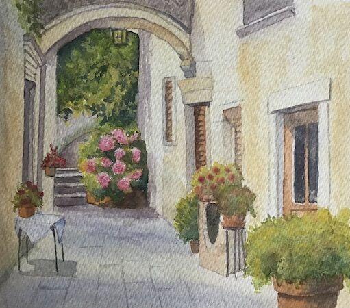 Sunny Courtyard, Tuscany