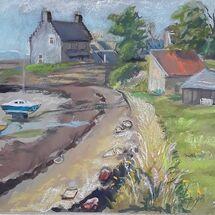 """""""Beside the Pier, Limekilns"""" by Margaret Cummins"""