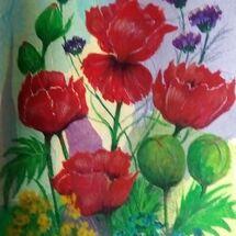 """Garden Poppies"" by Joan Patterson"