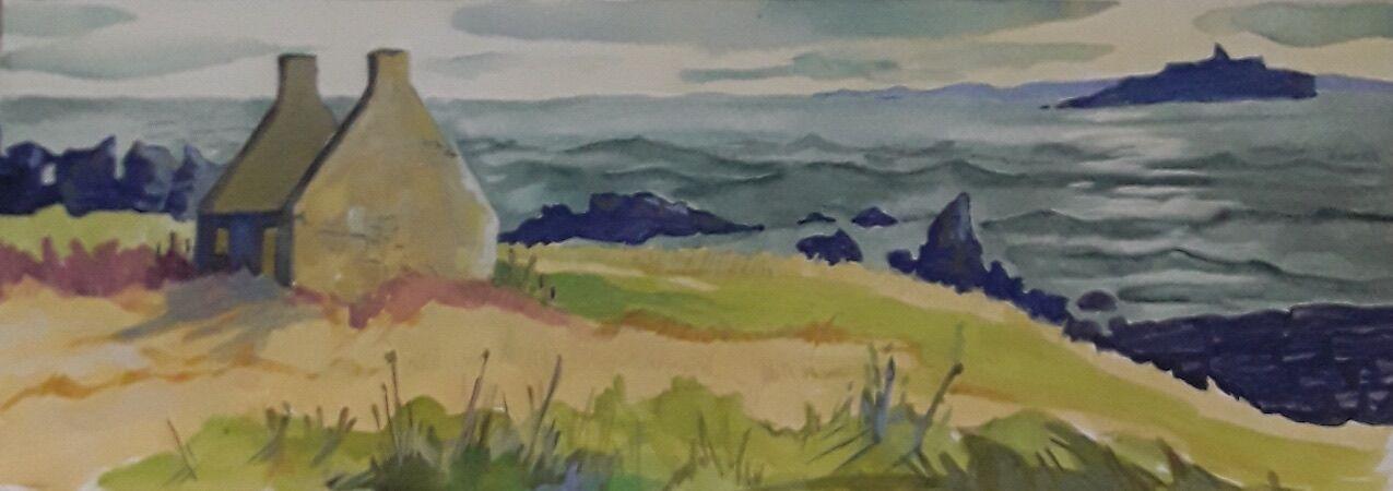"""Windy Day, Fife Coastal Path near Cellardyke"" by Margaret Cummins"