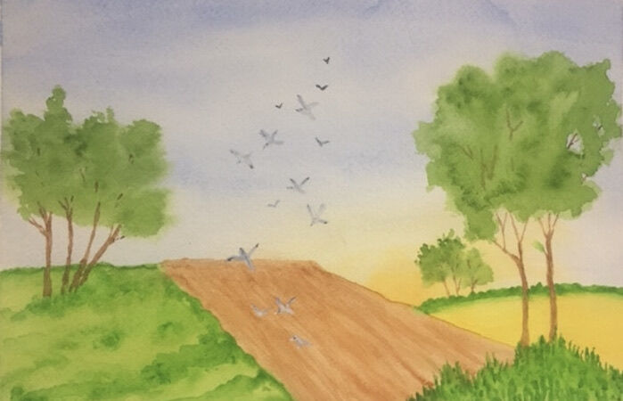"""""""Fields and birds"""" by Jill Brown"""
