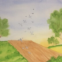 """Fields and birds"" by Jill Brown"