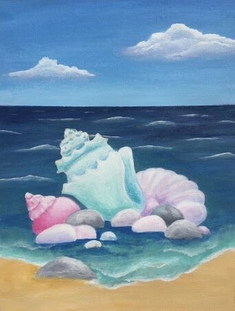 """Shells and Pebbles"""" by Jill Brown"""