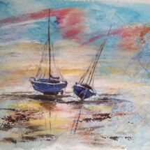 """Boats at rest"" by Dorothy Turvey"