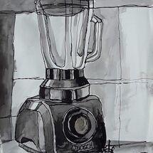 """Blender..........continuous line"" by Margaret Cummins"