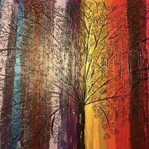 """""""Rainbow Tree"""" by Hazel Campbell"""