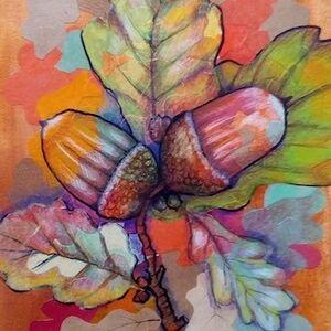 """""""Autumn Oak Twig"""" by Joan Patterson"""