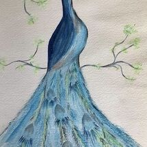 "Childhood Memory of a Peacock in Dunfermline Glen"" by Gwynith Young"