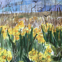 """Daffodils along the Avenue"" by Maggie Brown"