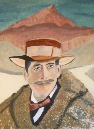 """""""Lord Carnarvon in front of the Valley of the Kings"""" by Gabi Piche Paterson"""