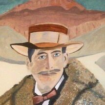 """Lord Carnarvon in front of the Valley of the Kings"" by Gabi Piche Paterson"