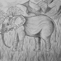 """Nellie the Elephant in Natural Habitat"" by Judith Jaggard"