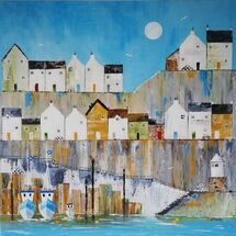 """""""Old Harbour Light"""" by Ingrid Mayes"""