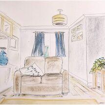 """Half my Lounge"" by Marjorie Rae"