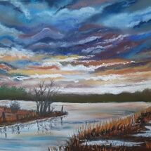 """A Stormy Sunset"" by Judith Jaggard"