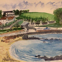 """Black Sands Beach, Aberdour"" by Jan Callender"
