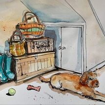 """""""Under the stairs"""" by Moira MacPherson"""