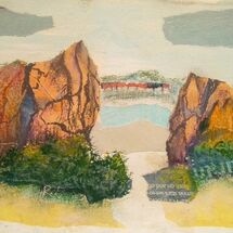 """ On the coastal path, looking thro' the rocks from North Queensferry towards Dalgety Bay"" by Joan Patterson"