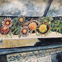 """Bill's Gerbera box"" by Jan Callender"