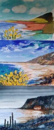 """One landscape, Three ways"" by Dorothy Turvey"