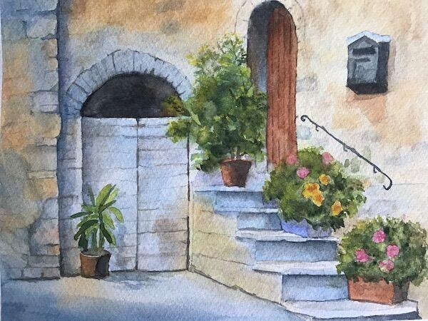 An old doorway, Dubrovnik