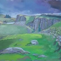 """""""Hadrian's Wall, with The Sill"""" by Margaret Cummins"""