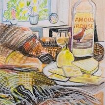 """""""A Wooly blanket, a wee dram and strong cheddar"""" by Jan Callender"""