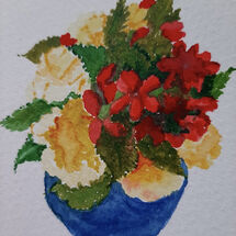 """""""A 2nd pot of Begonias"""" by Judith Jaggard"""