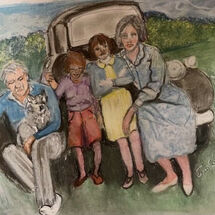 """""""A 1955 family outing"""" by Jan Callender"""