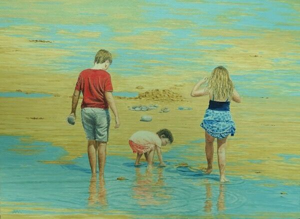 'Pebble Collectors' by Adrian Masson