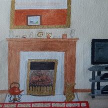 """'My Lounge from sofa"""" by Judith Jaggard"""