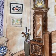 """""""Grandfather clock"""" by Maggie Brown"""