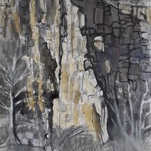 """Sunlight on Old Quarry Cliff (and me)"" by Margaret Cummins"