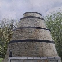 "The 16th Century ""Beehive Doocot"", Aberdour by Judith Jaggard"