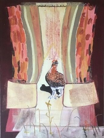 """""""Red Grouse entering the stage' by Gabi Piche-Paterson"""